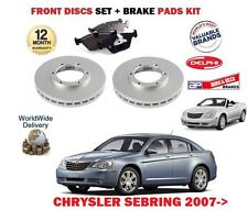 FOR CHRYSLER SEBRING 2.0 DT 2.4 2.7 V6 2008--  FRONT BRAKE DISCS SET + PADS KIT