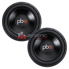 "2) PowerBass M-1504D Car Audio 15"" DVC 4-Ohm M Series Subwoofer 1,700 Watts Sub"
