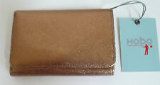 Hobo International Jill Compact Trifold Wallet Copper Leather Photo Holder NWT