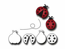 Elizabeth Craft Designs Cutting Die Set ~ LADY BUGS  Fancy, Insects, Baby ~711
