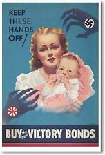 Keep These Hands Off - NEW WW2 Vintage   Art Print   POSTER