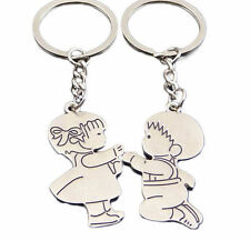 Pair of His and Hers Wedding Proposal Keyrings