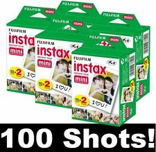 New Fuji Instax Mini Film for Fujifilm Mini 8 7 & Mini 90, 50 Cameras 100 photos