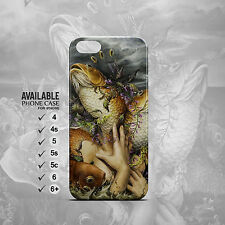 the surrealism human and Fish phone case for iPhone 4, 4s, 5, 5s, 5c, 6, 6plus