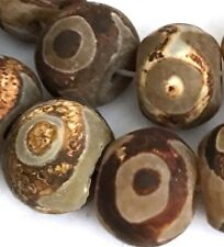 16mm Tibetan Old Agate Rondelle Beads hand cut (10)