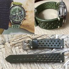 Leather Strap Leder armband bracelet cuir 20/16mm for vintage watch chronograph