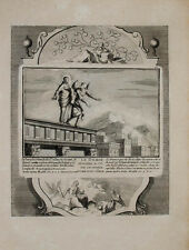 1728 grabado Biblia Biblia de jesús tentación diablo