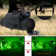 Tactical IR Infrared Night Vision Monocular Scope 200m 5X40 Zoom Record DVR【US】