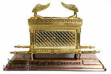 """Statue Copper Ark of the Covenant 7.1"""" Jewish Testimony Judaica Israel Gift"""