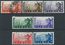 1941 LIBIA USATO FRATELLANZA D'ARMI 7 VALORI - ED572