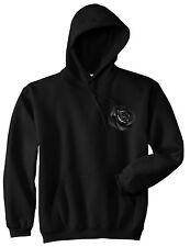 Kings Of NY Black Noir Flowers Roses Pullover Hoody Sweatshirt