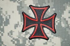 Patch Black Iron Cross with Red Border Jacket Club Shirt