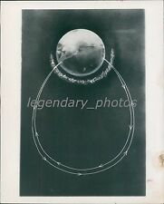 1957 Graph of a Rocket's Path Original News Service Photo