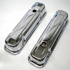 Chrome Tall Pontiac Valve Covers fits 326 350 400 455 Pontiac Engines