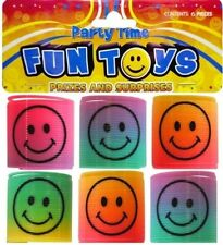 12x Rainbow Smiley Face Springs ~ Party Loot Bag Fun Toys Fillers Toy UK SELLER