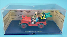 Voiture TINTIN CAR  N°44 Jeep rouge Willys MB années 40   1:43 diecast model