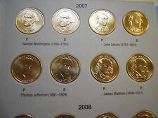 Volume 1 Complete Set (P&D) 2007-2011 Presidential $1 Golden Dollar BU 40 Coins