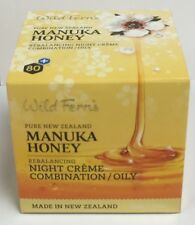 Wild Ferns Manuka Honey Night Creme Combination/Oily 100g Vitamin E Neroli Oil