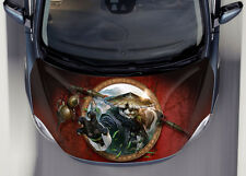 Kung Fu Panda #1 Car Hood Wrap Full Color Vinyl Sticker Decal Fit Any Car