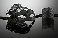 kleine original venezianische Maske Augenmaske mit Federn Karneval Maskenball
