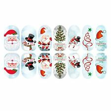 Christmas Nail WRAPS Nail Art Water Transfers Decals Santa Trees Snowmen YD201