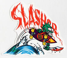 Santa Cruz Slasher Skateboard Sticker - Keith Meek Reissue skate snow surf board
