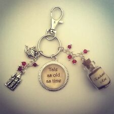 Beauty And The Beast Keyring-Jewellery-Bag Charm-Christmas Stocking Filler