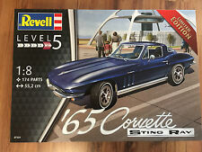 Revell 07434 Chevrolet Corvette Stingray 1965 Bausatz 1:8, KIT, LIMITIERT