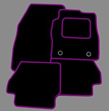 SMART FORTWO  2007 ONWARDS TAILORED BLACK CAR MATS WITH PURPLE TRIM