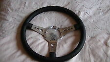 "MOTO-LITA 15"" MK4 POL LEATHER RIM DISH HOLES STEERING WHEEL  BMW MERCEDES"