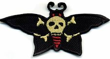 Tattoo Patch Butterfly Moth Skull Old School traditional Retro Rockabilly