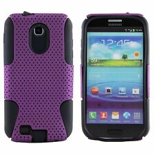 Samsung Galaxy S2 Epic 4G Touch D710 Sprint HARD & SOFT RUBBER CASE PURPLE MESH