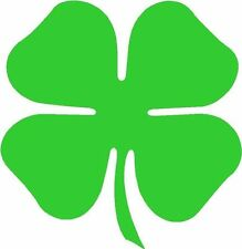 4 Leaf Clover Four Leaf Lucky Sticker Decal Graphic Vinyl Label Green