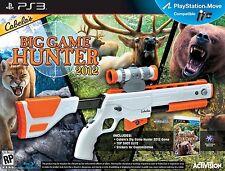 NEW PS3 Cabela's Big Game Hunter 2012 Game & Gun Bundle Set Top Shot Elite Rifle