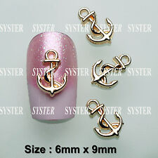 10 Pcs 3D Nail Art Ocean Decoration ANCHOR Alloy Jewelry Rhinestone SJ-172