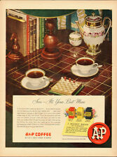 1950 Vintage ad for A&P Coffee~Coffee/China/Tile Table (103013)