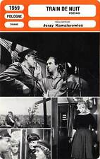 FICHE CINEMA : TRAIN DE NUIT - Winnicka,Niemczyk,Kawalerowicz 1959 Night Train