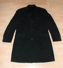 Goth BLACK velvety cord Mod Crombie style FORMAL OVERCOAT JACKET COAT Linea L XL