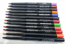 BONJOUR 48 HOURS WATERPROOF 12 PCS MULTI COLOURS  EYE / LIP LINER PENCIL