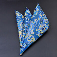Men's Pocket Square Hankerchief Satin Solid Floral Paisley Dot Hanky Party F24