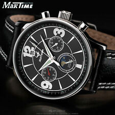 MakTime Poljot 31679 Moon phase Chronograph russian Watch mechanical+