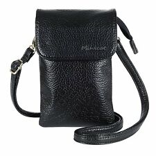 MINICAT Roomy Pockets Premium Soft Leather Series Crossbody Cell Phone Purse Bag