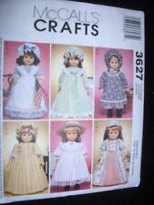 """18"""" DOLL NEW McCalls 3627 Pattern Colonial Dresses Nightgown Fits American Girl"""