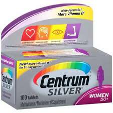 Centrum Silver Women 50+ Multivitamin/Multimineral Supplement Tablets, 100 ct, N