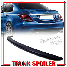 Unpainted Mercedes BENZ W205 C-class A Type Rear Trunk Spoiler 4DR Sedan C300
