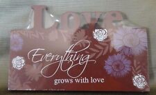 Wood Plaque Home Decoration- Love Themed.