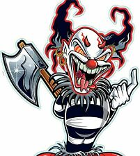 EVIL CLOWN ,  GUITAR , WALL,CAR ,VAN, LAPTOP, BIKE,STICKER