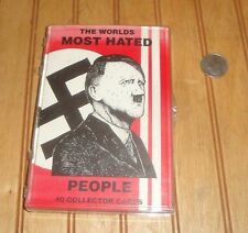 THE WORLD'S MOST HATED PEOPLE Trading Cards Set in Case Rigomor Press 1ST PRINT