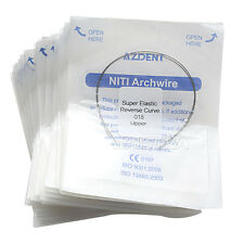 10 Packs Orthodontic Dental Niti Reverse Curve Round Arch Wires 018 Upper SALE