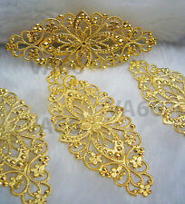 DIY Gold Filigree Lace Extension Chandelier Earrings Necklace Findings CK04